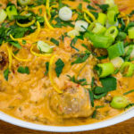 Close-up Lamb red curry in coconut cream Pressure cooker Gary Lum