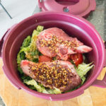 Curry lamb ready for the microwave oven in the Tupperware® Micro Pressure Cooker Gary Lum