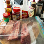 Beef short ribs in a zip-loc bag. Getting ready to prepare the marinade. Gary Lum