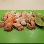 Moreton Bay bugs and lime Australia Day
