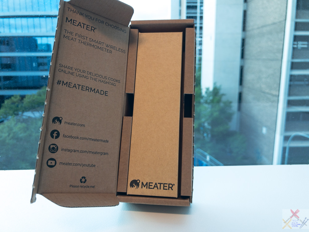 This is a photograph of the box which my MEATER® came in.